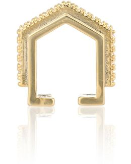 Fitzgerald Block Ear Cuff In Gold