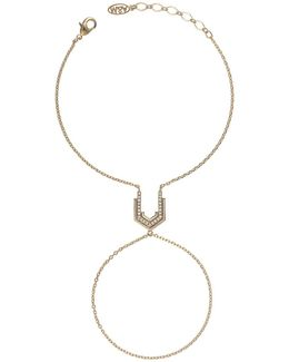 Fitzgerald Block Hand Chain In Gold