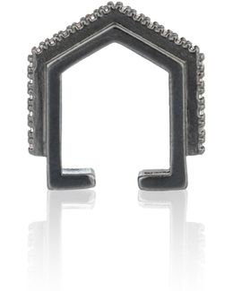 Fitzgerald Block Ear Cuff In Gunmetal