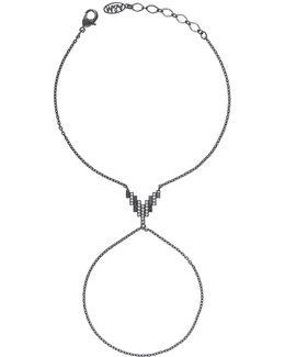 Fitzgerald Pyramid Hand Chain In Gunmetal
