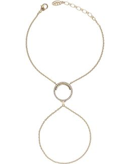 Fitzgerald Circle Hand Chain In Gold