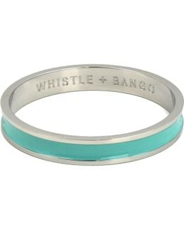 'w' Alphabet Bangle Mint