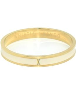 'x' Alphabet Bangle Cream