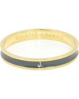 'j' Alphabet Bangle Grey
