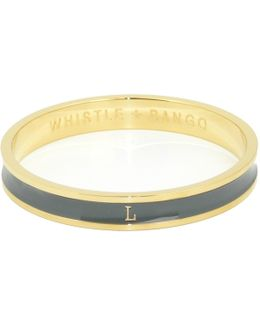 'l' Alphabet Bangle Grey