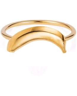 Banana Ring Gold Vermeil