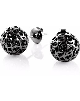 Svar Ruthenium Sphere Earrings Spinel