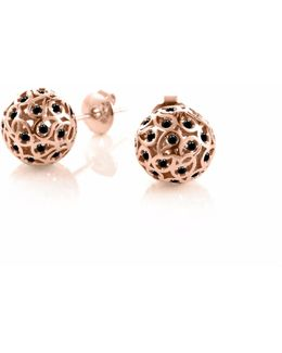 Svar Rose Gold Sphere Earrings Spinel