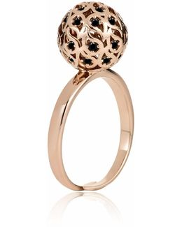 Svar Silver Sphere Ring Yellow Cz
