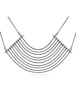 Orbit Cosmos Large Necklace Oxidised Silver