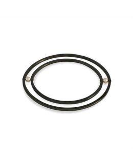 Orbit Rotate Bangle Oxidised Silver