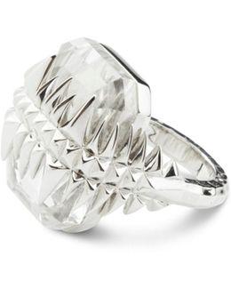 Black Sea Glacier Ring Silver & White Topaz