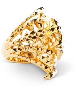 The Blades Of Octopi Gold Ring