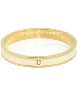 'u' Alphabet Bangle Cream
