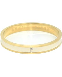 'f' Alphabet Bangle Cream