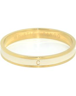 'c' Alphabet Bangle Cream
