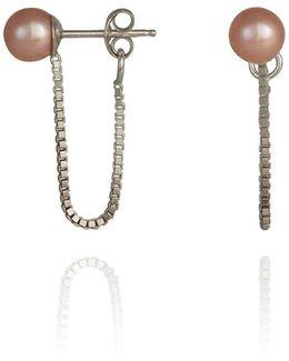 Orbit Chain Loop Earrings Silver