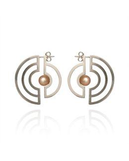Orbit Solaris Earrings Silver