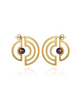 Orbit Solaris Earrings Gold