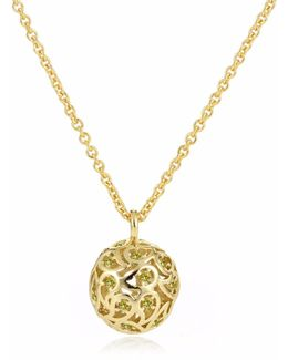 Svar Gold Sphere Necklace Yellow Cz