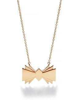 Gold Bowtie Necklace