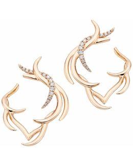 Paradis Plume Hoops Part Pave