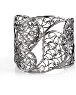 Amer Ruthenium Cuff Clear Cz