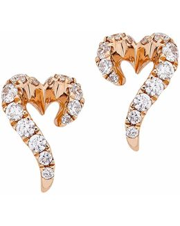 Vita Vitae Mini Heart Stud Earrings