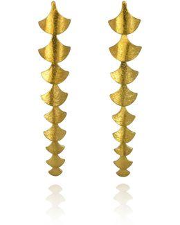 Siren Vertebrae Earrings Gold