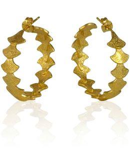 Siren Sequence Hoop Earrings Gold