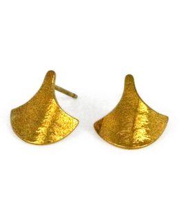 Siren Scales Stud Earrings Gold