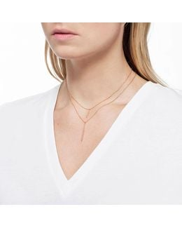 Hold On Small Bar Necklace In Rose Gold