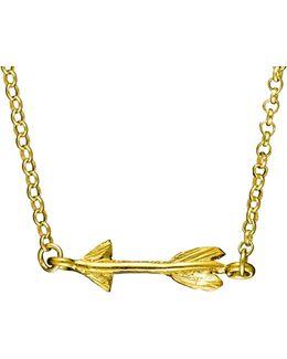 Follow Your Dreams Arrow Necklace Gold
