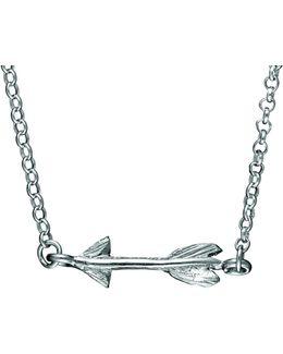 Follow Your Dreams Arrow Necklace In Silver
