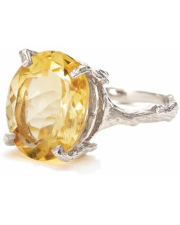 Drop In The Wild In Citrine & Silver