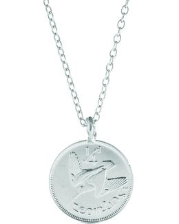 Worth You Weight In Gold Farthing Chain Necklace Silver