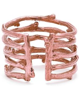 Love Is All You Need Twig Ring In Rose Gold