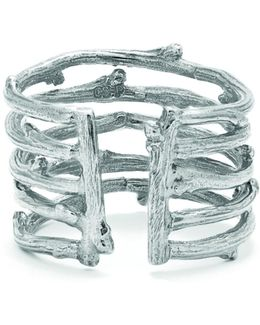 Love Is All You Need Twig Ring In Silver