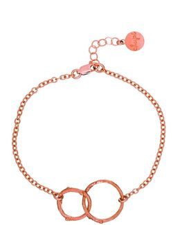Just The Two Of Us Hawthorn Twig Circle Bracelet In Rose Gold