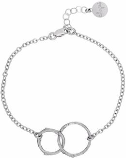 Just The Two Of Us Hawthorn Twig Circle Bracelet In Silver