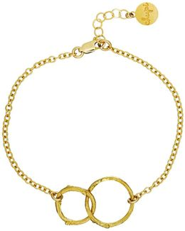 Just The Two Of Us Hawthorn Twig Circle Bracelet In Gold