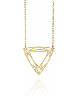 Gold Trillion Diamond Necklace