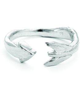 Follow Your Dreams Arrow Ring In Silver