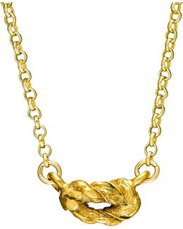 Forget Me Knot Necklace In Gold
