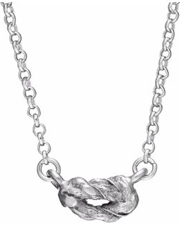 Forget Me Knot Necklace In Silver