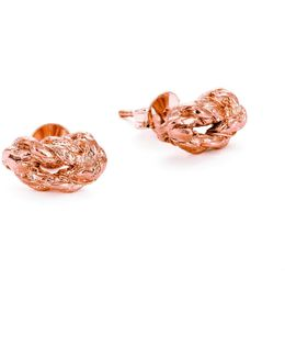 Forget Me Knot Stud Earrings In Rose Gold