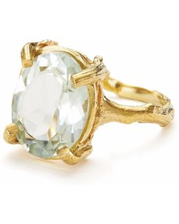 Beauty In The Wild Ring Prasiolite & Gold