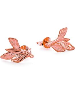 Wrap Your Laurels Around Me Stud Earrings In Rose Gold