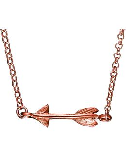 Follow Your Dreams Arrow Necklace In Rose Gold