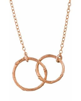 Just The Two Of Us Hawthorn Twig Circle Necklace In Rose Gold